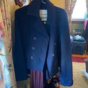Navy wool mix Abercrombie pea coat